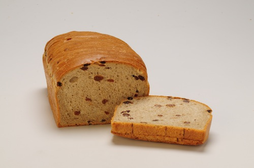 Cinnamon/Raisin White Bread 5/8 Sliceed